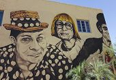 A Wallace And Ladmo Mural, Phoenix, Arizona