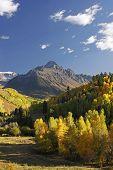 stock photo of mear  - Mount Sneffels Range with fall color - JPG