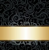 Black & gold luxury vintage background