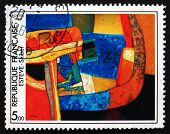 Postage Stamp France 1986 Skibet, Abstract By Maurice Esteve
