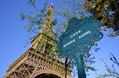 Gustave Eiffel avenue sign