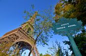 Gustave Eiffel avenue sign