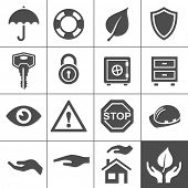 stock photo of vault  - Protection icons - JPG