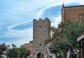 Taormina Sicily Italy - SEPTEMBER 09 2013: Church of San Giuseppe on the Piazza IX Aprile Taorminale