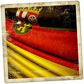 Flag Of Rhineland-palatinate (ger)