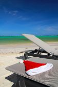 Santa Hat On Chaise Longue