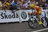 Alberto Contador no palco 1