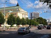 Tallin City Street View. Tallinn - Ancient City In Baltic States