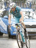 BARCELONA - MARCH, 30: Lieuwe Westra of ProTeam Astana rides during the Tour of Catalonia cycling ra