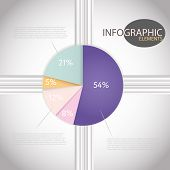 Circle Chart Templates Infographic Percent Pie