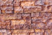 Texture of old Rectangle stone wall