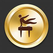 Pommel Icons on Gold Button Collection