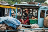 Transporting Vegetables In Mekong Delta, Vietnam