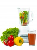 Blender with fresh vegetable