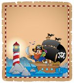 Pirate theme parchment 1 - eps10 vector illustration.