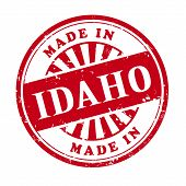 Made In Idaho Grunge Rubber Stamp