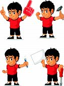 Soccer Boy Customizable Mascot