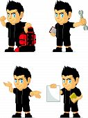 Spiky Rocker Boy Customizable Mascot 11