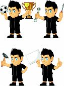 Spiky Rocker Boy Customizable Mascot 16
