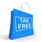 Tax Free Shopping Bag Shows No Duty Taxation
