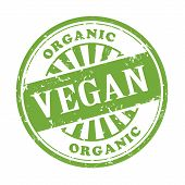Vegan Grunge Rubber Stamp