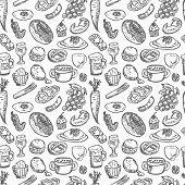 Seamless Food Pattern