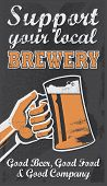 stock photo of drawing beer  - Vintage Brewery Beer Poster  - JPG