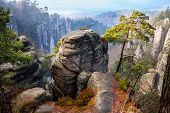 stock photo of bohemian  - Beautiful rocks in Bohemian Paradise - JPG