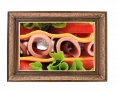 Fresh Sandwich In Frame.