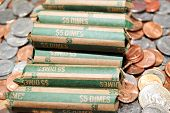Rolled Bank Dimes On Mixed Coinage