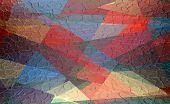 geometric metal plate