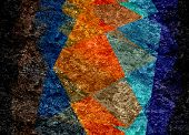 colorful mosaic cubism grunge texture background