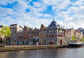 historical houses in old Haarlem, Holland