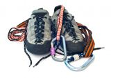Carabiners, Ropes And Climbing Shoes
