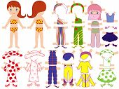 Paper Doll And A Set Of Clothing For The Summer Season