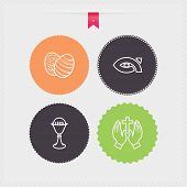 picture of chalice  - Four concept icons: spring from left to right top to bottom - 