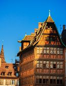 Old historical half-timbered house in Strasbourg, France