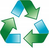 pic of reprocess  - universal recycling symbol  - JPG