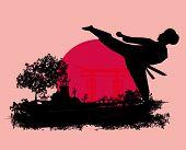 Karate Grunge Card