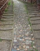 Cobble Stone Steps
