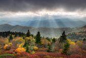 Blue Ridge Parkway Scenic Autumn Landscape