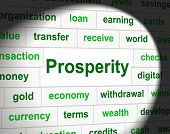 Prosper Prosperity Means Investment Money And Wealthy