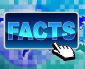Facts Button Shows World Wide Web And Answers