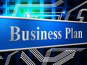 Business Plan Shows Project Plans And Formula
