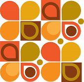 Abstract Retro Geometric seamless pattern. Illustration