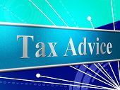 Tax Advice Indicates Help Answer And Excise