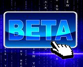 Beta Button Means World Wide Web And Network