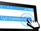 E Commerce Shows World Wide Web And Purchasing