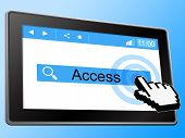 Access Online Represents World Wide Web And Accessible