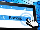 Online Backup Represents World Wide Web And Archives